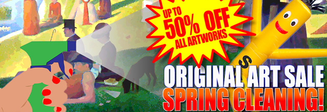 Spring Cleaning Art Sale!