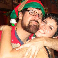 Sara and Dave create The Local's Holiday Winow